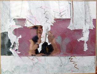 Squirels 5 - crayon, acrylique sur papier et carton découpé - Norbert Hillaire, 2007
