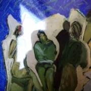 Série Maroc 7 - Personnages, Peinture et photographie, 1985/2019