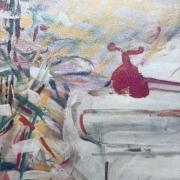 Série Maroc 6 - Le robinet rouge, acrylique sur toile (1985)