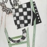 Tableau Distractions Sans titre ( papiers découpés, dessin) , 1999