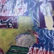Série Maroc 5 - AAAAH, acrylique et fusain, (1985)